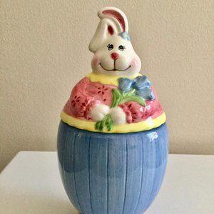 Adorable Creamic Bunny Treats/Cookie Jar